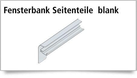 Fensterbank Klinker Seitenteile 210 mm in Silber